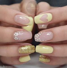 Cute Easter Nail Designs You Have to Try This Spring - Nails Square Acrylic Nails, Cute Acrylic Nails, Cute Nails, Pretty Nails, My Nails, Acrylic Nails Yellow, Gorgeous Nails, Easter Nail Designs, Cool Nail Designs