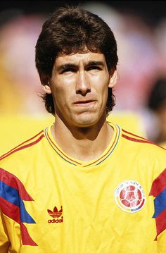 Andres Escobar of Colombia during the Round of 16 match against the Cameroon at the 1990 FIFA World Cup on 23 June 1990 at the San Paolo Stadium in. Football Icon, Football Soccer, Colombian People, Colombia Soccer, Sir Alex Ferguson, Pablo Escobar, Own Goal, Soccer World, Fifa World Cup