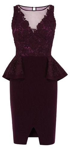 Peplum dress, WAS £160, NOW £59, 62 per cent off, coast-stores.com...