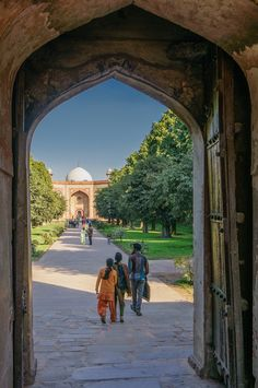 Entrance to Humayn's Tomb in Delhi