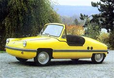 The Spatz (German for sparrow) microcar was spawned from a concept seen at the 1954 Paris Auto Salon.