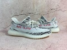 7d3e89c21c752 Adidas Yeezy Boost 350 V2 Zebra 100% AUTHENTIC White Red With Box And All  Tags