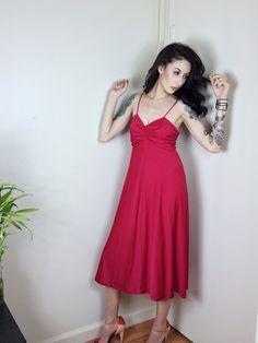 1970s Red Disco Dress – Natasha Lillipore