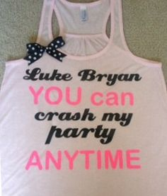 Luke Bryan Crash My Party Racerback by RufflesWithLove on Etsy, $26.00 #lukebryan #crashmyparty bowtank