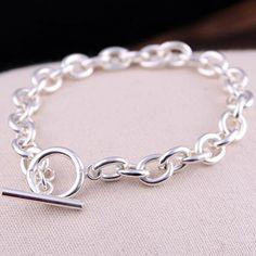 Men's Sterling Silver Oval Link Chain Bracelet - Jewelry1000.com