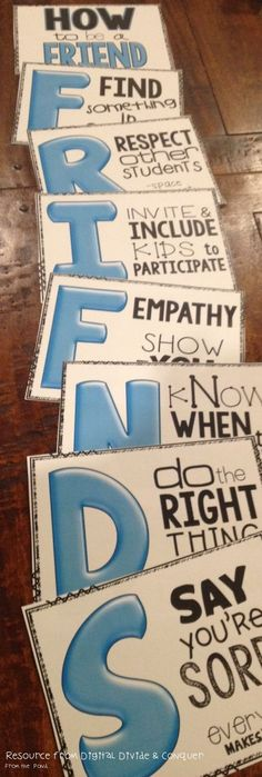 FRIEND-used this acronym/idea when teaching activity day girls..worked well, good discussion