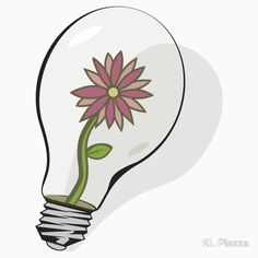 Flower in Lightbulb