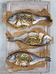 Fish can be intimidating to cook but this recipe for whole sea bream cooked en papillote is really easy and looks impressive when guests open it at the table.