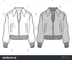Fashion Design Template, Fashion Design Sketches, Jacket Drawing, Flat Sketches, Clothing Sketches, Leather Jacket Outfits, Aviator Jackets, Fashion Flats, Jacket Style