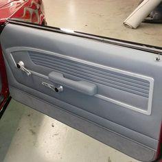 68 camaro custom door panels grey silver brushed handles, blend the design into a fesler panel