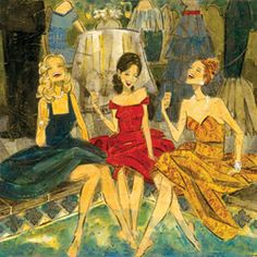 Kathy Womak   Women & Wine  Poolside III