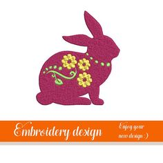 Bunny Machine embroidery Embroidery Desing Easter Bunny Easter Bunny, Your Design, Machine Embroidery, Embroidery Designs, Trending Outfits, Unique Jewelry, Handmade Gifts, Etsy, Vintage