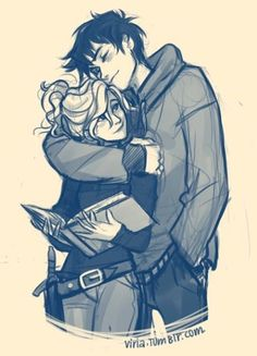 percy jackson viria makes the best percabeth drawings Cute Couple Drawings, Couple Sketch, Drawings Of Couples, Couple Poses Drawing, Hipster Drawings, Cute Couple Art, Girl Drawings, Drawing Faces, Manga Drawing