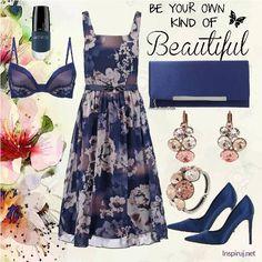 Stylizacje dnia z Inspiruj.net – Randka w granatowych klimatach - KobietaMag.pl Dark Blue, Summer Outfits, Navy, Image, Ideas, Fashion, Moda, Fashion Styles, Dark Teal