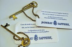 Key as invitation for 1920s speakeasy party