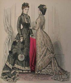 Fashion plate, late 1870's