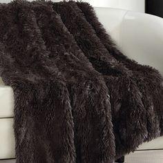 Elana Shaggy Faux Fur Supersoft Ultra Plush Decorative Throw Blanket