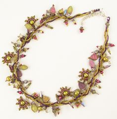 Faery Vine Necklace by Laura McCabe, pattern & refills, Beads East