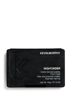NIGHT.RIDER - Kevin.Murphy Provides a tough hold and a rough matte texture for short or choppy looks. This product has the advantage of being easy to get from the jar and sets on contact. It gives you a little time to work the look then it sets.  How to use: Rub a small amount between palms and distribute evenly through damp or dry hair.  Benefits: Strong hold, Matte texture, Paraben free