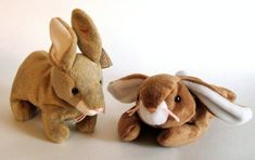 Ty Beanie Babies Stuffed Bunnies Plush Animals by ParadeOfMemories