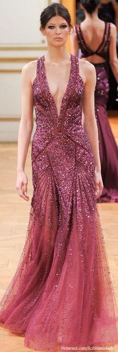 Raspberry for a soft summer - Zuhair Murad Haute Couture   F/W 2013