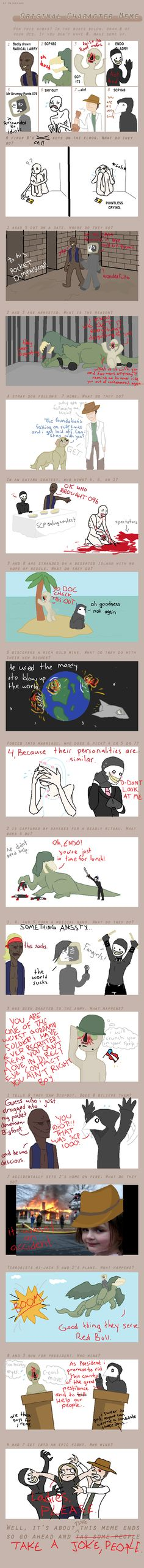 SCP Character Meme by Danwolfefersrs on DeviantArt