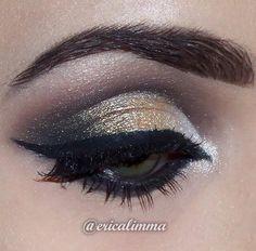 Maquiagem feita pela @ericalimma usando os pigmentos White, Nude e Mocha da linha Loose Pearl Eye Shadow