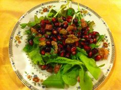 Beautiful Christmas salad from @LucyBurdette www.mysteryloverskitchen.com