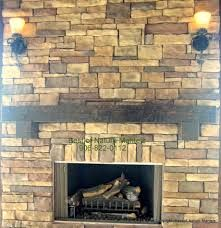 stone fireplace with timber mantel - Google Search
