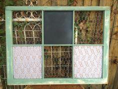 RECLAIMED Old Window  Custom  Chalkboard  MAGNETIC  by EightySix56, $75.00