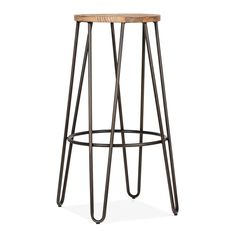 Hairpin Light Rustic Stool with Seat Option | Cult Furniture UK