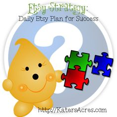 Daily Etsy Strategy - Some great tips for managing your promo time for etsy sellers!