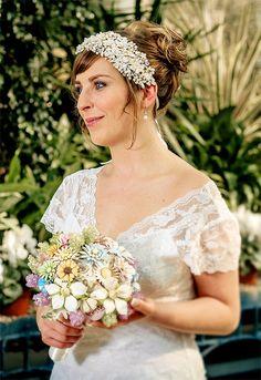 Wedding brooch bouquet PASTEL PRELUDE by hairbowswonderworld