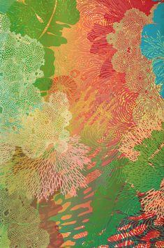 Lauren Kussro, Chromatic Current I Silkscreen 20 x 29 Screenprinting, Ocean Life, Living Room, Gallery, Prints, Painting, Art, Art Background, Screen Printing
