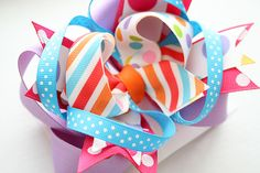 How to make twistie base for layered bows.