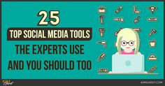 25 Top Social Media Tools The Experts Use And You Should Too  ||  Great blog post at Kim Garst | Marketing Strategies that WORK :   Ever wonder how the experts seem to use social media so effortlessly? It's all in the tools! The right social media tools can make a[..] https://kimgarst.com/25-top-social-media-tools-the-experts-use-and-you-should-too?utm_campaign=crowdfire&utm_content=crowdfire&utm_medium=social&utm_source=pinterest
