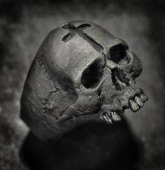 Items similar to 925 Sterling Silver Cruel Skull Ring / silver skull jewelry / Biker skull ring / bones ring / gothic ring / goth ring / memento mori ring on Etsy Mens Skull Rings, Silver Skull Ring, Gold Skull, Silver Man, Skull Art, Skulls, Skull Wedding Ring, Skull Engagement Ring, Wedding Rings