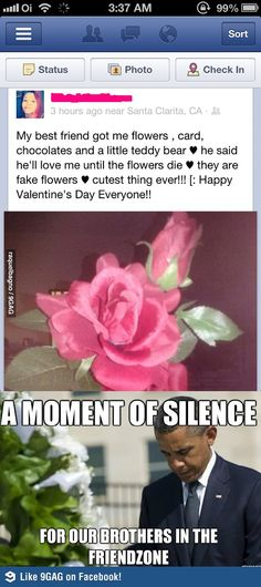 A moment of silence for our brothers in the friendzone