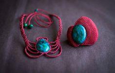 Brazalete bohemio en macramé brazalete de arte por OuiClementine