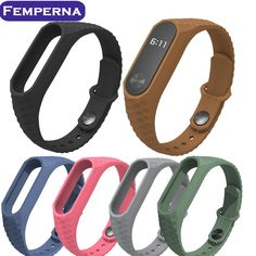 [Visit to Buy] New Wrist Strap for Xiaomi MiBand 2 Replacement Silicone Wristband Aurora WatchBand bulit in Anti-Lost Buckling for Mi Band 2 #Advertisement
