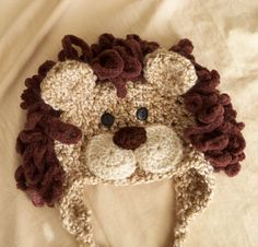 PDF Baby Lion Hat PATTERN with Bonus Costume Tail by JojosBootique