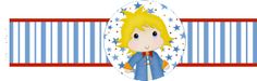 The Little Prince free printable card, book mark, Napkin Ring or candy bar label.