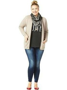 This is my go to outfit. Women's Plus Size Clothes: Featured Outfits Outfits We Love Plus Size Legging Outfits, Plus Size Fall Outfit, Plus Size Leggings, Plus Size Casual, Cute Fall Outfits, Fall Winter Outfits, Casual Outfits, Winter Style, Casual Wear