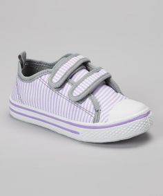 Take+a+look+at+the+Chatties+Lilac+Stripe+Sneaker+on+#zulily+today!