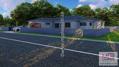 3 Bedroom House Plan MLB-069S Double Garage, Bedroom House Plans, Open Plan Living, Living Area, Mlb, Houses, How To Plan, Double Carport, Homes