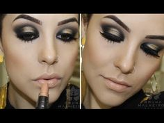 Maquiagem: Preto e Dourado - YouTube