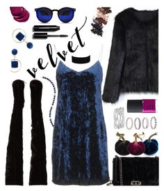 """""""Crushing on Velvet"""" by hubunch ❤ liked on Polyvore featuring Chicwish, Rebecca Minkoff, Hanita, Miss Selfridge, Sole Society, Christian Louboutin, Spitfire, NARS Cosmetics, Savvy Cie and L.A. Girl"""