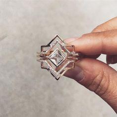GIACOMELLI Art Deco Engagement ring #customdesign