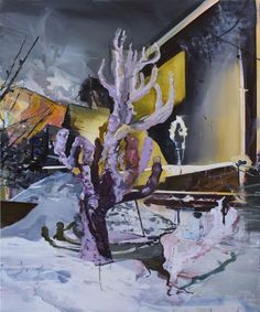 """Martin Golland (19??-….), Residential Night Vulture, 2009oil on canvas, 60"""" x 50""""collection: Royal Bank of Canada"""