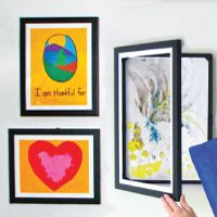 Great way to store and update drawings, pictures, kids paintings or just loved poems!